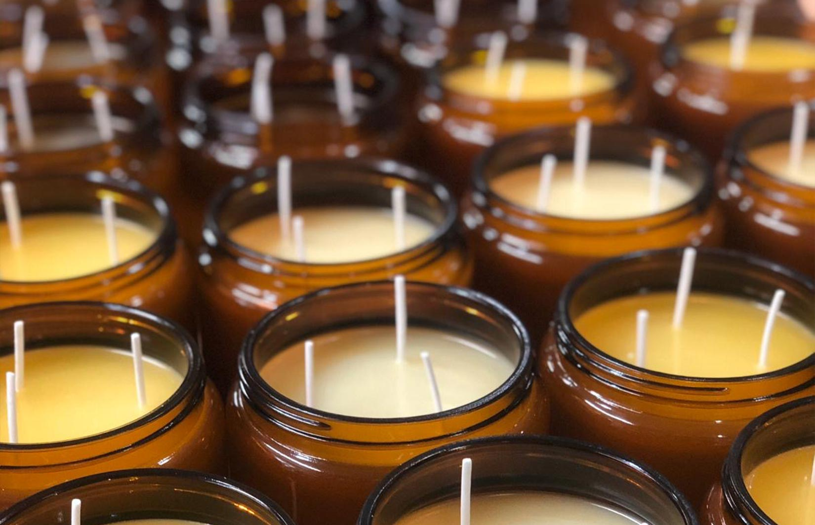 Batch of bespoke soy wax candles